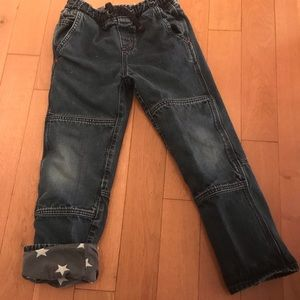 Mini Boden star lined jeans